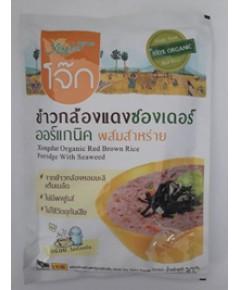 ซองเดอร์ โจ๊กข้าวกล้องสาหร่าย Xongdur Organic Red Brown Rice Proridge With Seaweed