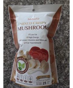 เห็ดสามอย่างอบกรอบ รสธรรมชาติ สวัสดี Mixed Crispy Mushroom.