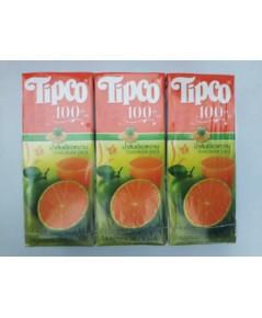 ทิปโก้ น้ำส้มเขียวหวาน Tipco Tangerine juice.