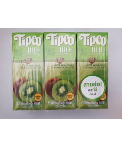 ทิปโก้ น้ำกีวีผสมน้ำองุ่น Tipco kiwi  Grape juice