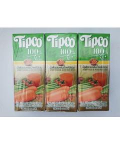 ทิปโก้ น้ำผักรวมผสมน้ำผลไม้รวม Tipco Mixed Veggie  Mixed Fruit Juice.