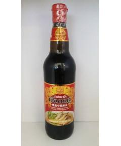 น้ำมันงาจีน ตรามังกรคู่ Chinese Style Sesame Oil.(630cc)