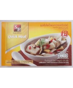 ซุปเยื่อไผ่น้ำแดงเจ SP Vegetarian Bamboo Pith Soup. (370g.)