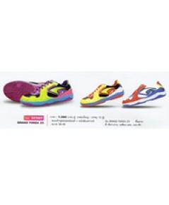 รองเท้าฟุตซอลหนังแท้ + หนังสังเคราะห์ รุ่น Grand Forza Z3 code 337007 size 40 สีเขียวม่วง