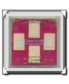 พระสมเด็จ วัดอิทรวิหาร บางขุนพรหม รุ่นบูรณะศาลา ครบชุด 4 พิมพ์ พ.ศ.2532 (2)