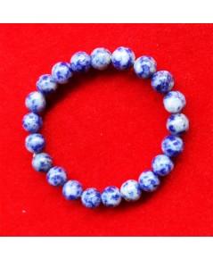 สร้อยข้อมือหินโซดาไลท์ 8.3 มิล เสริมสิริมงคล เหนี่ยวนำความสงบสุข  โดดเด่นเจรจา