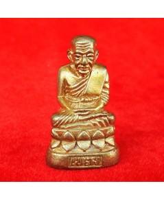 รูปหล่อหลวงพ่อทวด พิมพ์บัวรอบ เนื้อทองเหลือง รุ่นเลื่อนสมณศักดิ์พัดยศ วัดพุทธาธิวาส ปี 2554 เลข 641