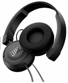 JBL T450 Pure Bass sound with 1-button remote with Microphone On-ear (สีดำ)