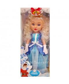ตุ๊กตาผมบรอนซ์ยาว  ชุดราตรีฟ้าคราม  ขนาด 17 นิ้ว