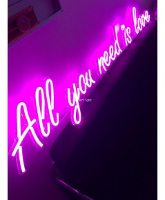 ป้ายไฟ All you need is love