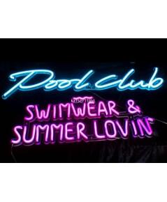 ป้ายไฟ Pool Club