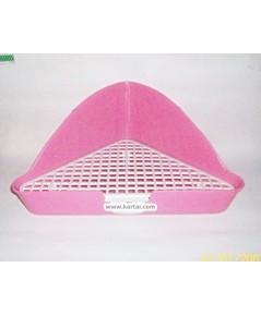 ห้องน้ำกระต่าย ทรงสามเหลี่ยม สีม่วง สำหรับวางเข้ามุมกรง หรือมุมบ้าน บรรจจุ 1 ชิ้น