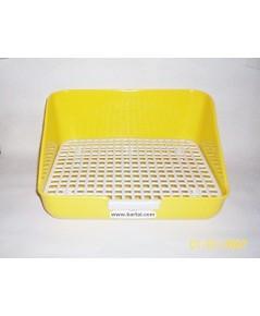 ห้องน้ำกระต่าย รูปทรงสี่เหลี่ยม สีเหลือง บรรจจุ 1 ชิ้น