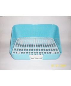 ห้องน้ำกระต่าย รูปทรงสี่เหลี่ยม สีฟ้า บรรจจุ 1 ชิ้น