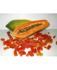มะละกออบแห้ง อบแห้ง ขนมมากประโยชน์ ช่วยระบาย และขับก้อนขน บรรจุ 100 กรัม