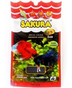 SAKURA SPECIAL Colour อาหารปลากัด เม็ดดำ สูตรเร่งสี เพิ่มพลัง บรรจุ 12 ซอง