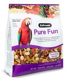 Pure Fun Large Bird มาคอร์ กระตั้ว อาหารนกอัดเม็ด นวัตรกรรมใหม่ ผสมผัก ผลไม้ บรรจุ 2 K.G