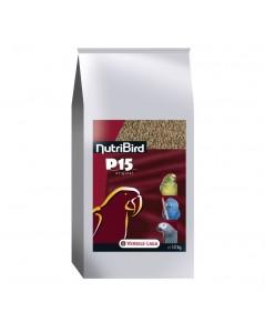 Nutribird P15 สูตรออริจินัล เม็ดสีน้ำตาล โปรตีน 15 สำหรับนกปากขอใหญ่-กลาง บรรจุ 10 กิโลกรัม