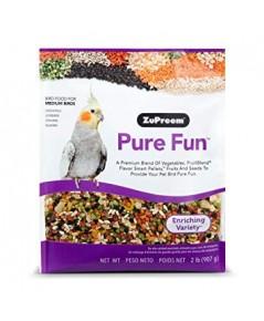 Pure Fun ค็อกคาเท็ล คอนนัวร์ เลิฟเบิร์ด เควกเกอร์ อาหารนก นวัตรกรรมใหม่ ผสมพืชผัก ผลไม้ บรรจุ 1 KG.