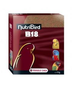 NutriBird B18 เม็ดสี อาหารนก กรงหัวจุก สูตรสำหรับพ่อแม่พันธุ์ และสูตรสำหรับนกผลัดขน บรรจุ 1 kg.