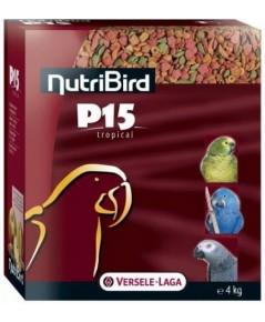 NutriBird P15 อาหารนกแก้ว ใหญ่-กลาง สูตรเม็ดสี โปรตีน 15 เปอร์เซ็น แพ็คเก็จบรรจุ 1 KG.