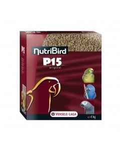 NutriBird P15 อาหารนกแก้ว ใหญ่-กลาง สูตรออริจินอล โปรตีน 15 เปอร์เซ็น บรรจุ 1 กิโลกรัม