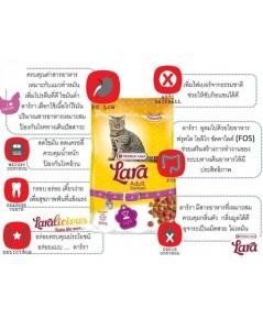 Lara อาหารแมวโต สูตรแมวทำหมัน Lara Adult Sterilized บรรจุ 350 กรัม