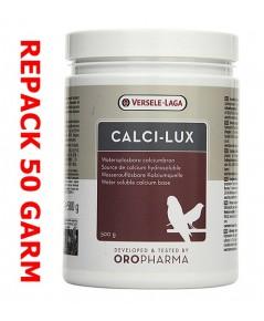 Calci-lux วิตามินบำรุงกระดูก เสริมแคลเซี่ยม สำหรับนกที่เลี้ยงในบ้าน แบ่งจำหน่าย 50 กรัม