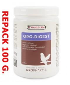 Oro-Digest ช่วยย่อยอาหาร ของลูกนก และนกโต ใช้ผสมในอาหาร หรือในอาหารลูกป้อน แบ่งจำหน่าย 100 กรัม