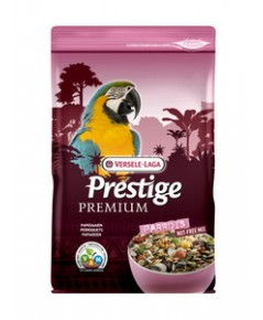 Premium Parrots อาหารนก สูตรพรีเมี่ยม สำหรับนกแก้วใหญ่ มาร์คอร์ เกรย์ กระตั้ว บรรจุ 2 กิโลกรัม