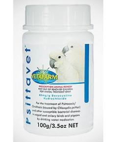 Psittavet ยารักษาโรคหวัด ขนพอง จมูกแฉะ น้ำตาไหล หายใจหอบ ขนฟูยุ่งเหยิง หัวบวม บรรจุ 25 กรัม