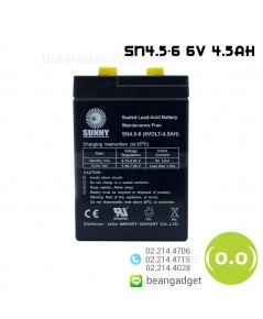 แบตเตอรี่แห้ง 6V 4.5Ah SUNNY SN4.5-6 Battery Lead Acid SLA VRLA AGM