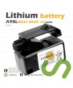 แบตเตอรี่ลิเธียม FANUC A98L-0031-0028 PLC CNC Lithium Primary Battery