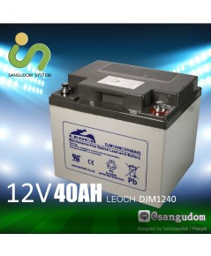 แบตเตอรี่ แห้ง 12V 40Ah LEOCH DJM1240 Battery Lead Acid VRLA AGM