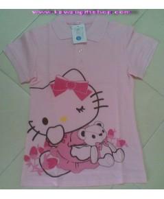 เสื้อคอโปโล คิตตี้ สีชมพู