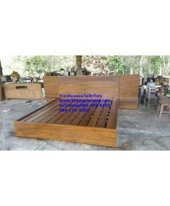 เตียงไม้สักP09