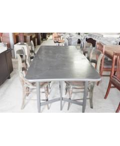ชุดโต๊ะทานอาหารไม้สัก 4 ที่นั่งมือสอง