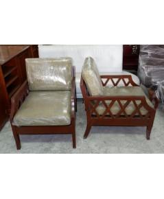 เก้าอี้อาร์มแชร์ไม้สักมือสอง