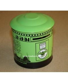 กระปุกออมสิน (จิ๋ว) สีเขียว -สินค้าหมด มีมาใหม่จะแจ้งให้ทราบ-