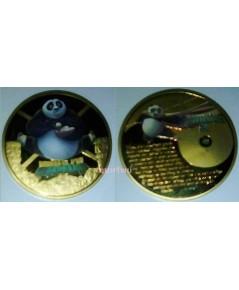เหรียญที่ระลึกภาพยนตร์ กังฟูแพนด้า 3 สีทอง