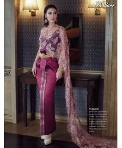 ชุดไทยจักรพรรดิ สีม่วง TEM 000861
