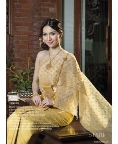 ชุดไทยศิวาลัย สีเหลืองทอง TSM 000845