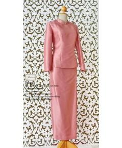 ชุดไทยจิตรลดา สีชมพูกลีบบัว TI 000902