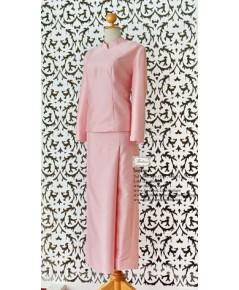 ชุดไทยจิตรลดา สีชมพูเข้ม TI 000903