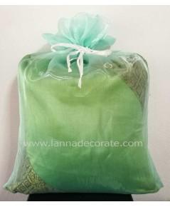 ถุงผ้าไหมแก้ว สีเขียว