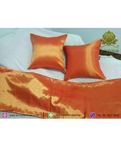 ชุดตกแต่งเตียง คอลเล็คชั่น สีล้วนสีส้ม