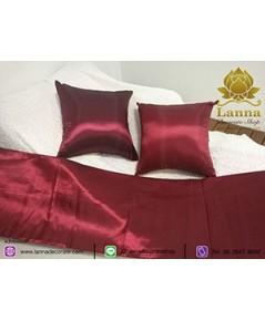 ชุดตกแต่งเตียง คอลเล็คชั่น สีล้วนสีแดงเข้ม