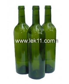 ขวดไวน์ ใหม่ สินค้านำเข้า ทรง Bordeaux ขนาดมาตรฐาน สีเขียวเข้ม 750 มล, ขวดยาน้ำสมุนไพร ยาสตรี (ราคาต