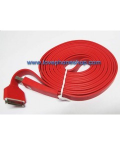 USB Noodle 3 เมตร สายชาร์จ iPhone, iPad, iPod สามารถเชื่อมต่อกับituneได้