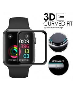 ฟิล์มกระจก 9H 3D Curve Fit แท้ติดง่าย ลงโค้งเข้ารูป Apple Wacth Series4 44mm. ส่งฟรี!!!